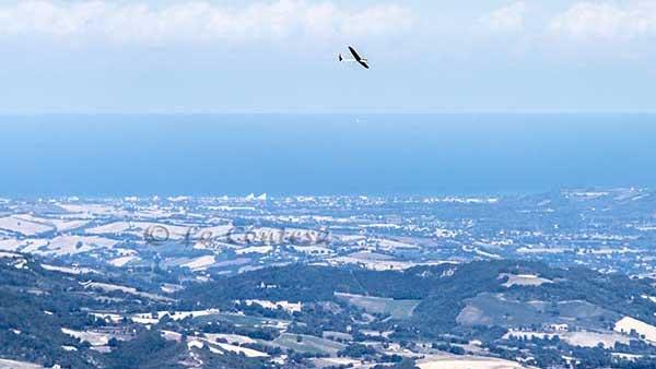 La vele di Marotta viste dal monte Tenetra.