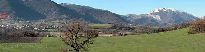 Acquaviva di Cagli, monte Petrano e monte Nerone.
